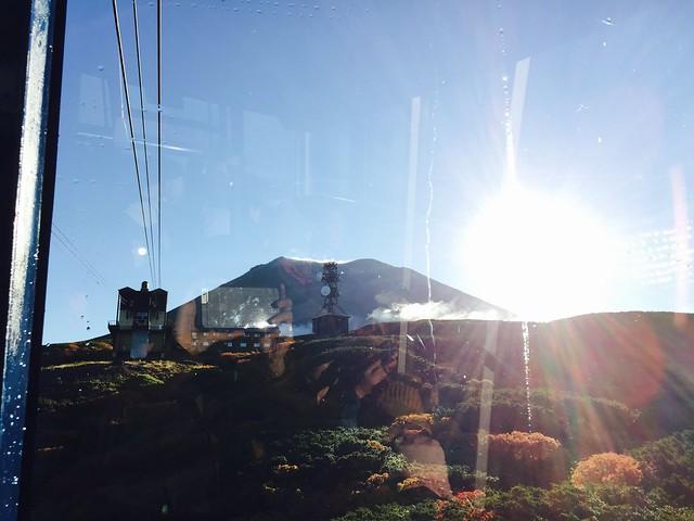 纜車上看旭岳