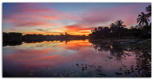 lake sunrise paintedsky miamilakes