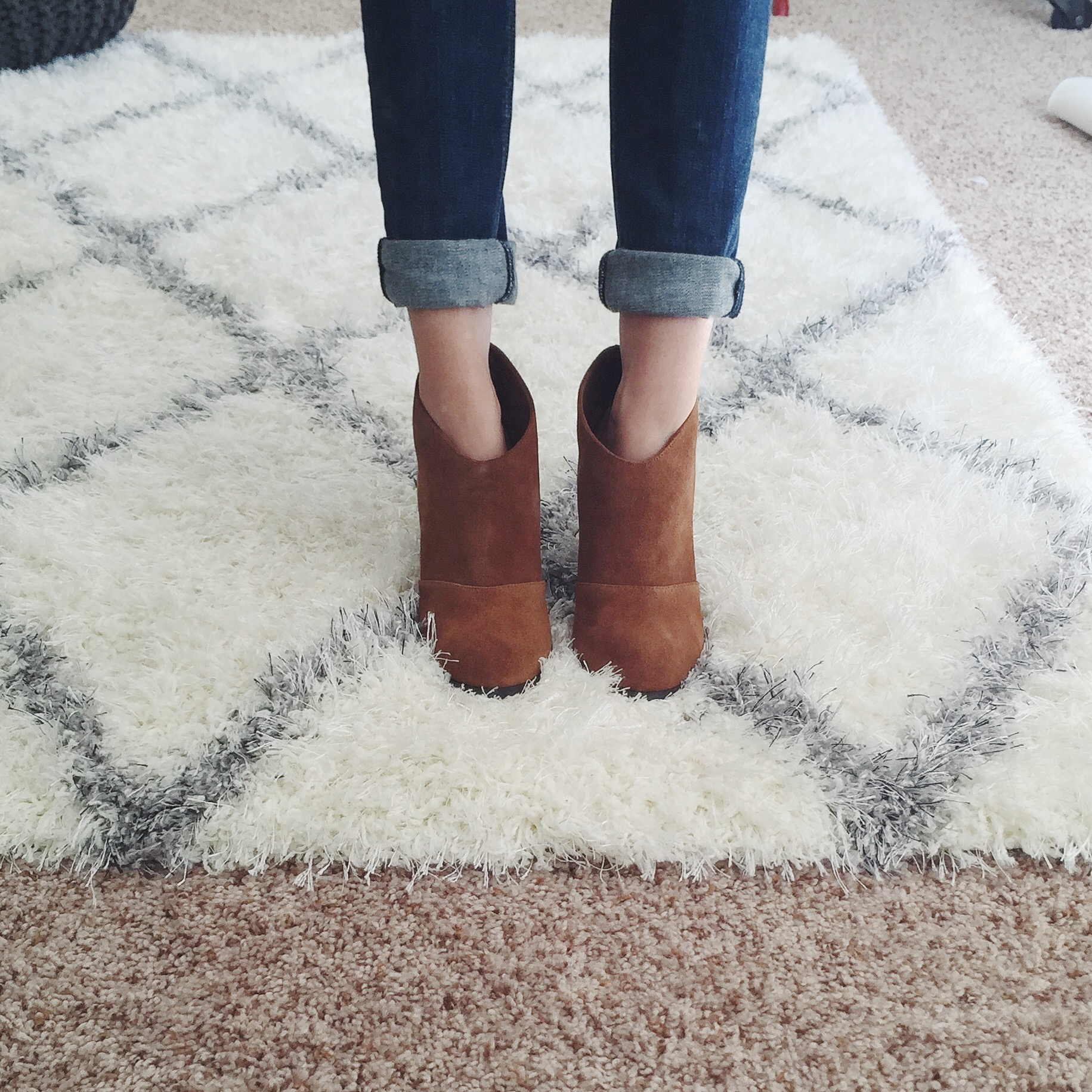 ann taylor suede bootie review
