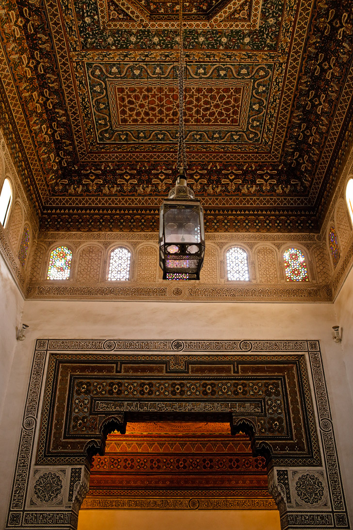 Palais de la Bahia in the Medina Marrakech.