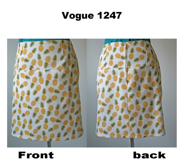 Pineapple skirt front and back