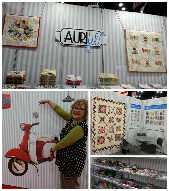 pat sloan Aurifil booth collage