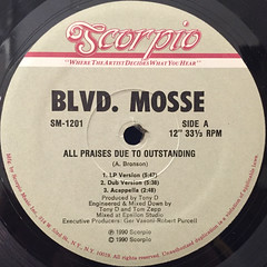 BLVD. MOSSE:ALL PRAISES DUE TO OUTSTANDING(LABEL SIDE-A)
