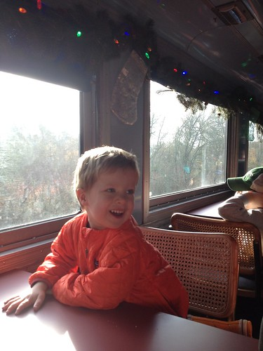 First Ride on the Holiday Express Train