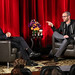"LMU School of Film & Television posted a photo:	In response to a student question that asked about the writing process, Damon Lindelof said, ""I think that a lot of us we hold ourselves to a very high standard...that's great, but the first thing that comes is very rarely going to be great."" 