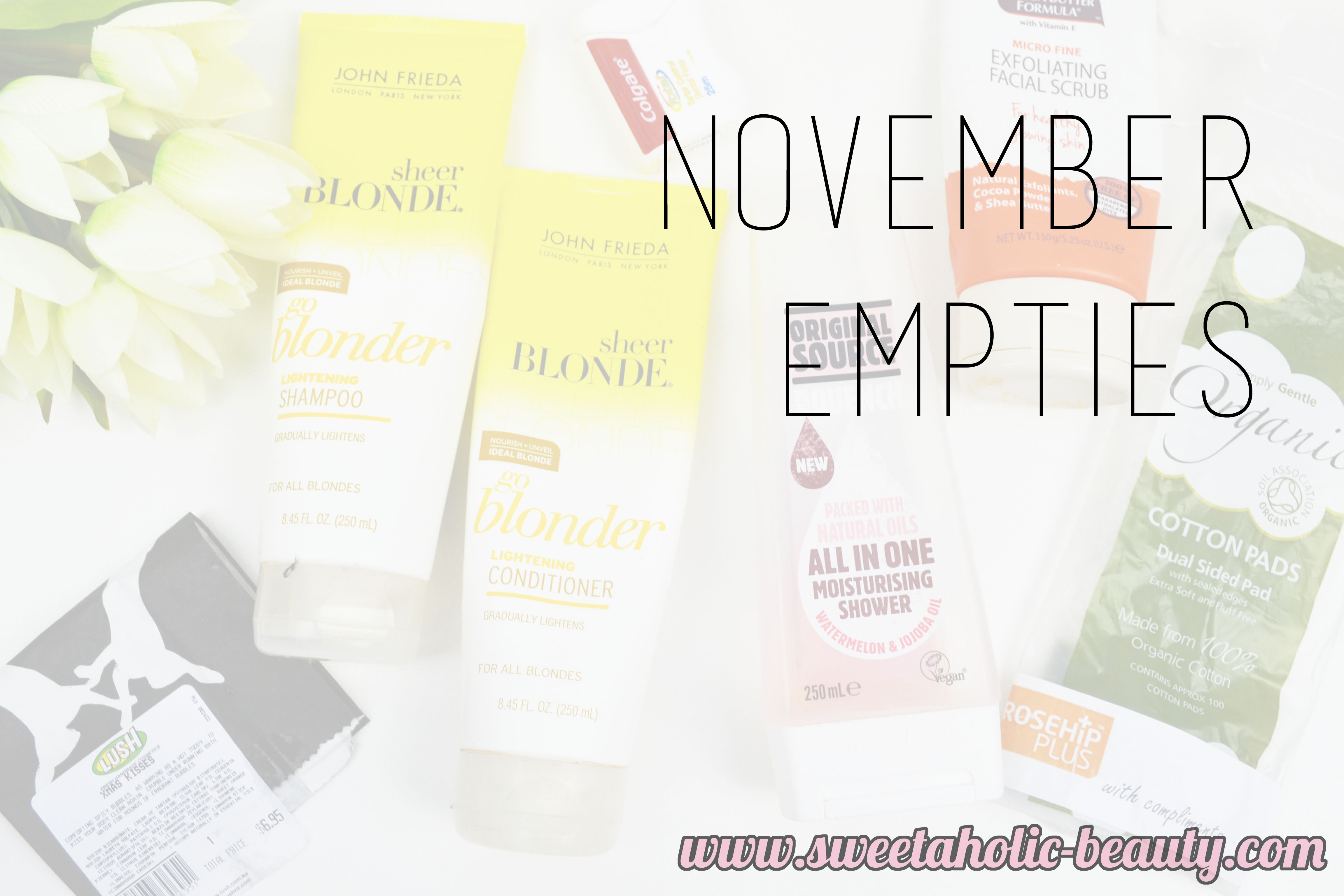 November Empties - Sweetaholic Beauty