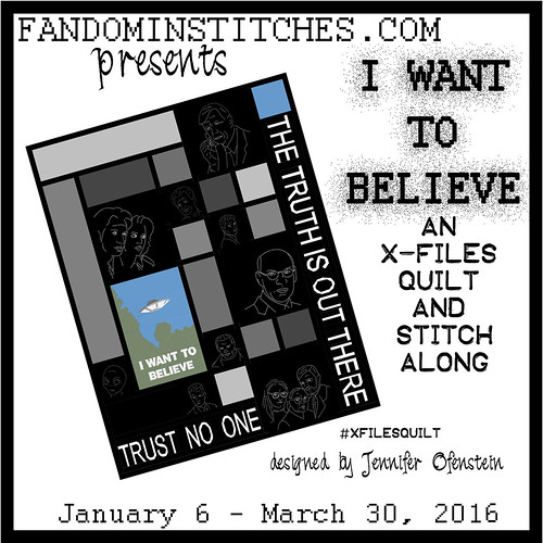 #xfilesquilt - I Want To Believe on fandominstitches.com