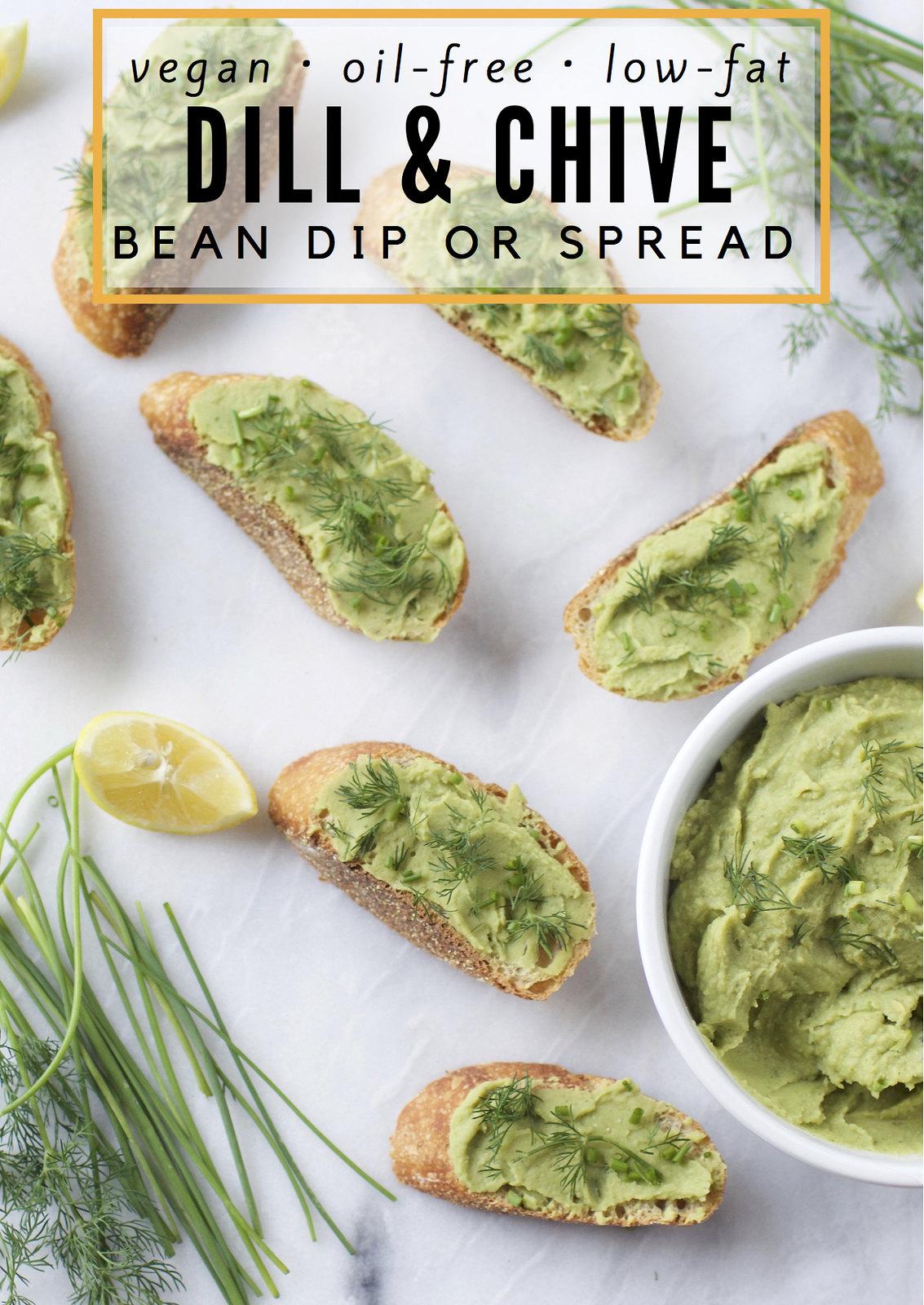 Dill & Chive Bean Dip Or Spread {Oil-Free, Low-Fat} sweetsimplevegan.com