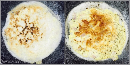 Egg Dosa Recipe for Babies, Toddlers and Kids - step 2