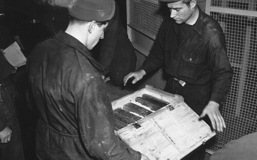 Lingotes encontrados en las minas de sal de Heilbron