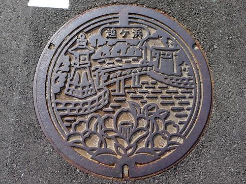 Koshigahama Hagi Yamaguchi, manhole cover (山口県萩市越ヶ浜のマンホール2)