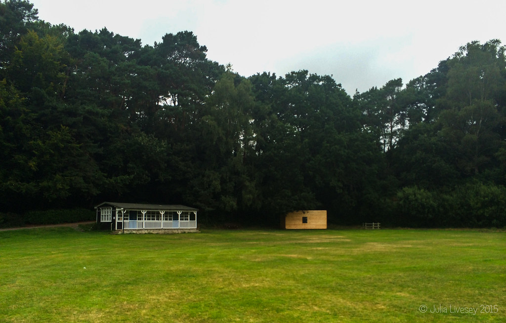 There's a smart new scorers' hut on the cricket pitch