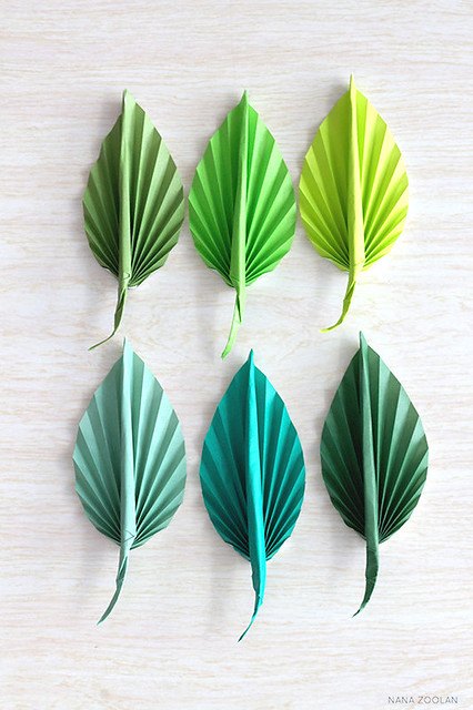 Origami Leaf Boutonnieres
