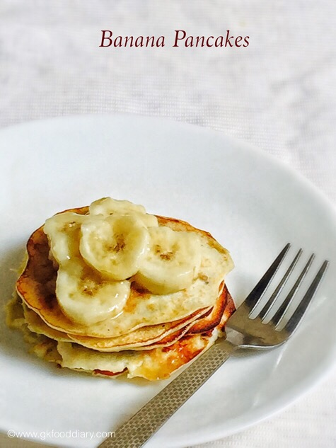 Easy banana pancakes recipe with eggs for babies kids baby food banana pancakes for baby forumfinder Gallery