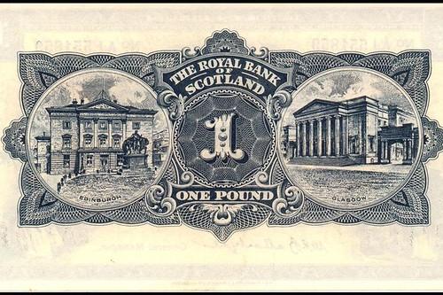 Scotland One Pound note back