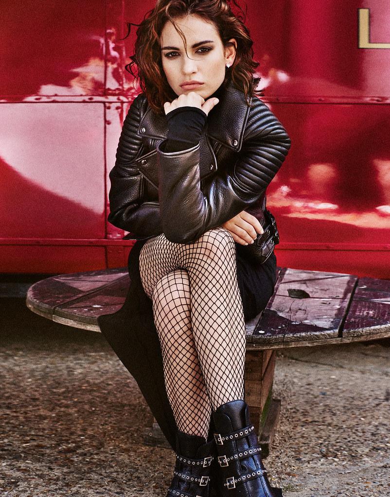 Лили Джеймс — Фотосессия для «The Edit» 2015 – 8