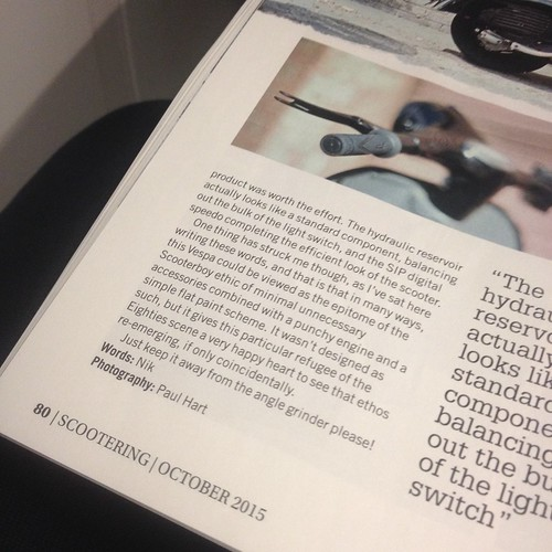 Published! Scootering magazine - October 2015