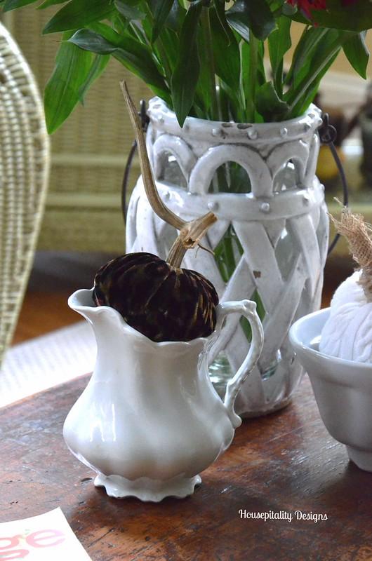 Velvet Pumpkin in Ironstone Creamer - Housepitality Designs
