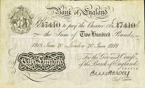 200 Pound note 1918