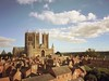 The Cathedral from the Castle Walls, Lincoln, Lincolnshire