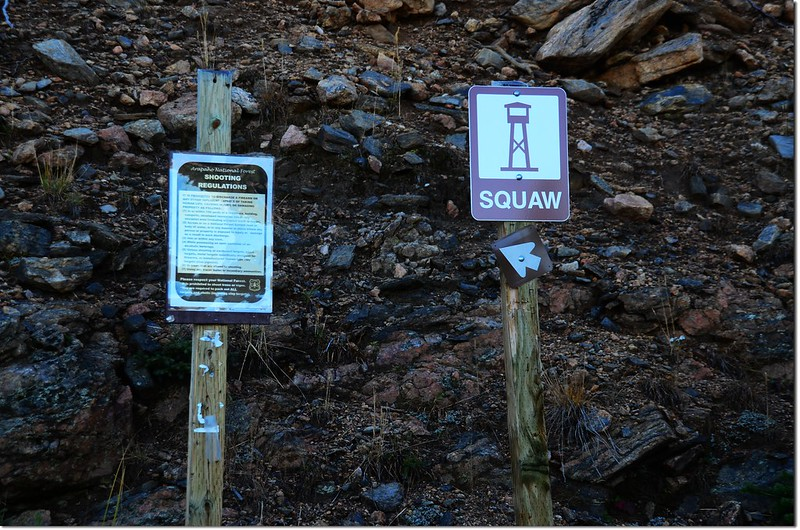 The sign on the trailhead