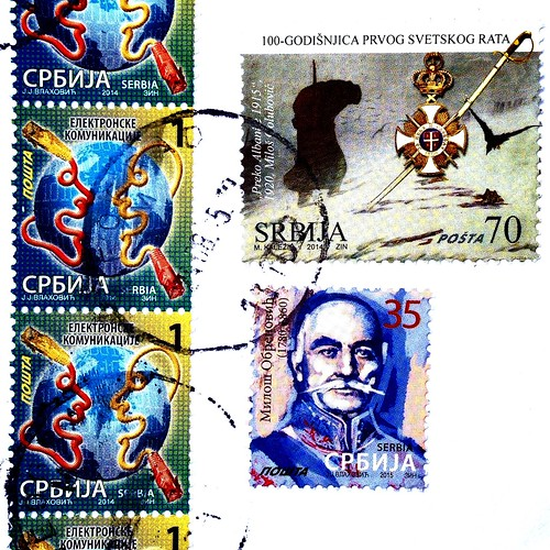 Serbia stamps - Postcrossing incoming