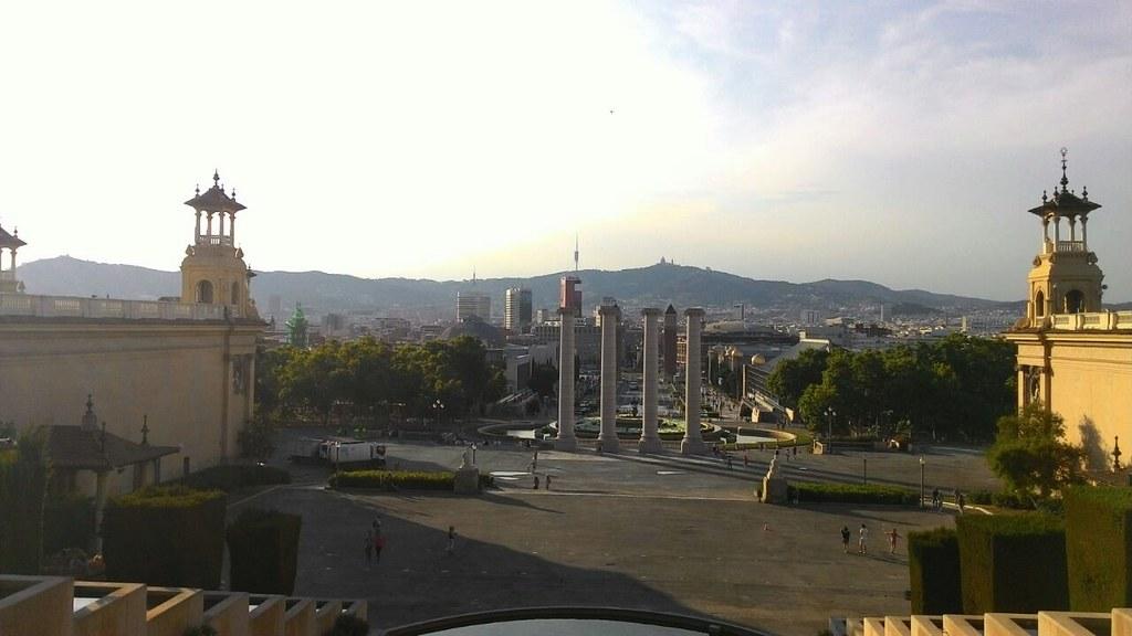 Vista dal Palau-Museu nacional d'art de Catalunya