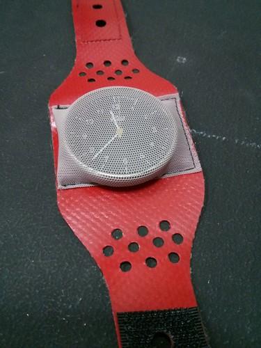 Breadboard pincushion as emergency watch strap replacement