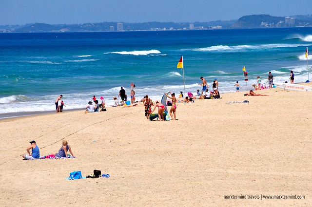 Beach Goers at The Spit Gold Coast