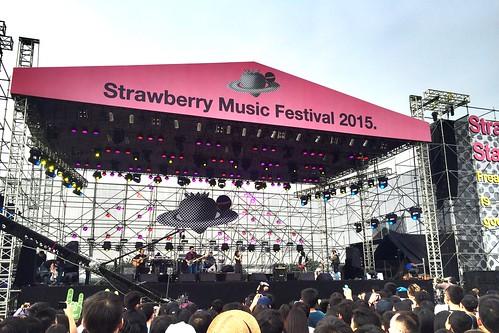 一連兩日的東莞「南方草莓音樂節」吸引數萬人入場,原 定參與演出的香港歌手盧凱彤、林二汶和台灣歌手盧廣 仲,突然被舉報支持佔中和台獨,演出被逼取消。(Photo by Sky Ho)