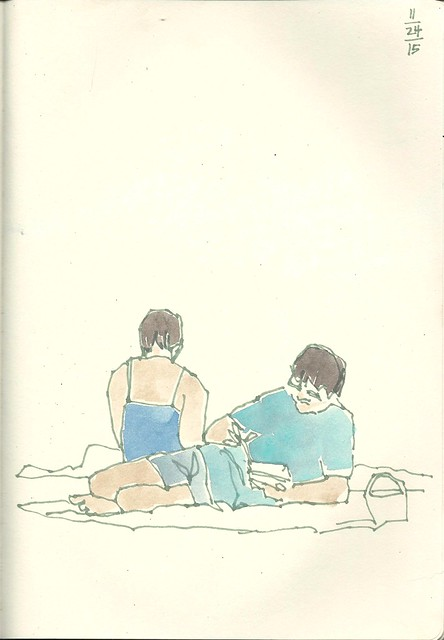 2015_11_24 Sayulita Beach Readers