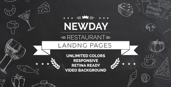 ThemeForest New Day - Responsive Landing Restaurant HTML