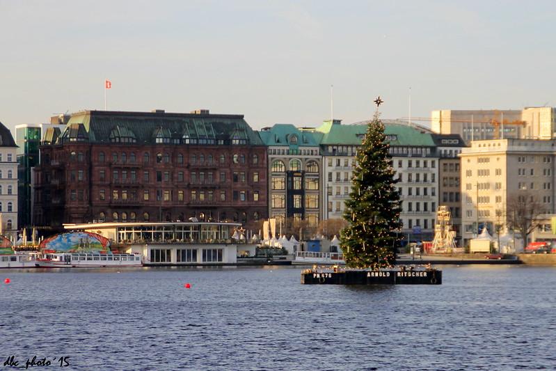 Paseo por el Lago Alster en Hamburgo