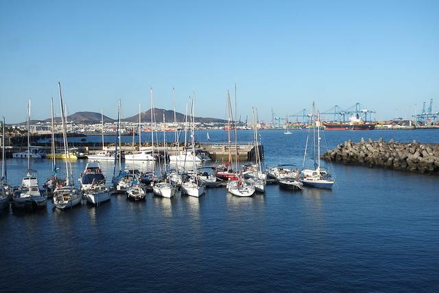 Vistas al puerto desde el paseo de Las Palmas