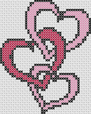 Preview of Wedding Cross Stitch: Wedding Heart Links Sampler