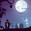 Free vector Halloween Scary Night background