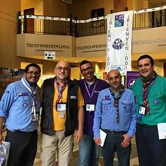 #ScoutsColombia, #ScoutsVenezuela and #WOSM #ScoutsIAR staff frkm #ScoutsUSA. #ScoutIAR.  #IASCHTX #InteramericanScoutConference #IARSC26 #ConferenciaScoutInteramericana #SMJoseTexas #NorthFloridaScouting present.