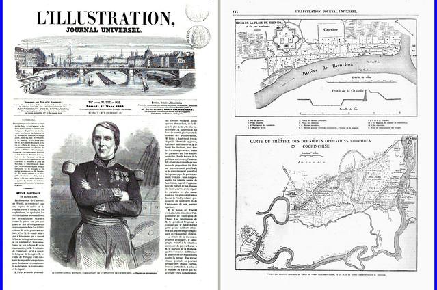 L'ILLUSTRATION - No 992 Samedi 1er Mars 1862 (1) - Bài báo ILLUSTRATION ngày Thứ bảy 01/3/1862 về trận chiến Pháp đánh chiếm Biên Hòa ngày 18/12/1861