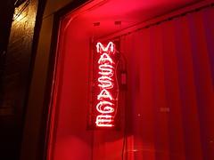 Massage Parlor Neon Sign