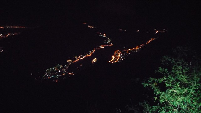 Kotor Bay night view