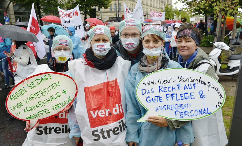 德國護理人員2015年罷工行動。