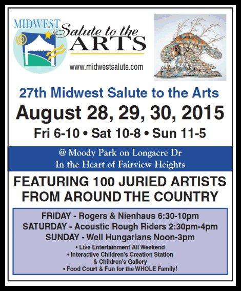 Salute to the arts 8-28 thru 8-30-15