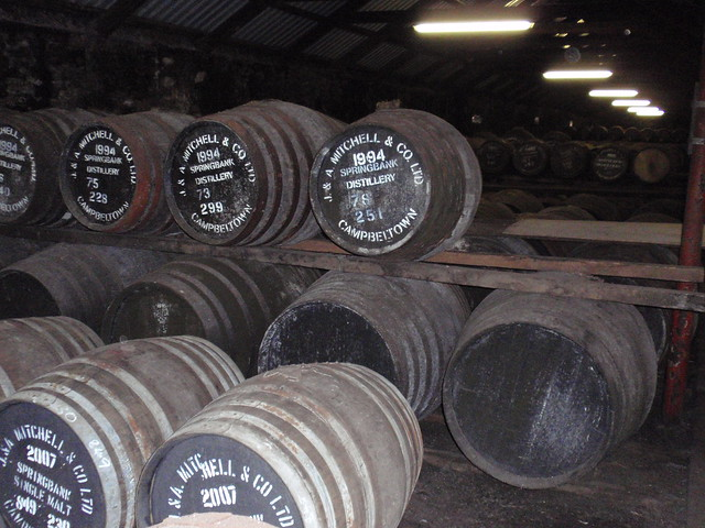 Traditional warehouse at Springbank distillery