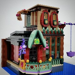 The house of Elves so far #lego #legofriends #legodisney #bulat #bulatlego #legostagram #brickcentral #bruneibricks #legocity #brickstagram #afol #legoarchitecture #legoafol #eurobricks #brickart #legoart #legomoc #legodisplay #brickshelf #worldofbricks #
