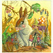 La duende del pelo rosa Ayurve y su fiel compañero Pupil el del pompón marrón by opaque, crystalline