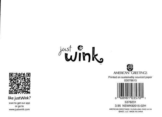 Hogwarts' Wink card