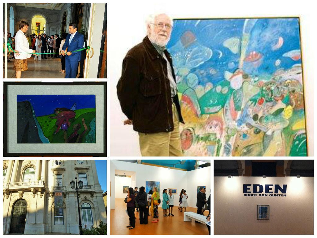 """Exitosa inauguración de la exposición """"Edén"""" de Roger Von Gunten, Portugal."""