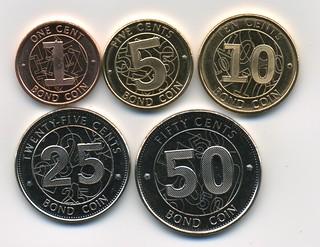 Zimbabwe Bond Coins obverse
