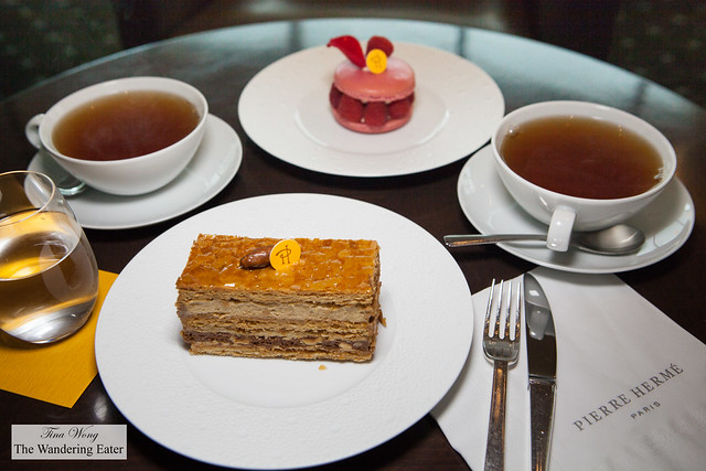 Ispahan & 2000 Feuille pastries and Thé Jardin de Pierre to sip at Bar Chocolat