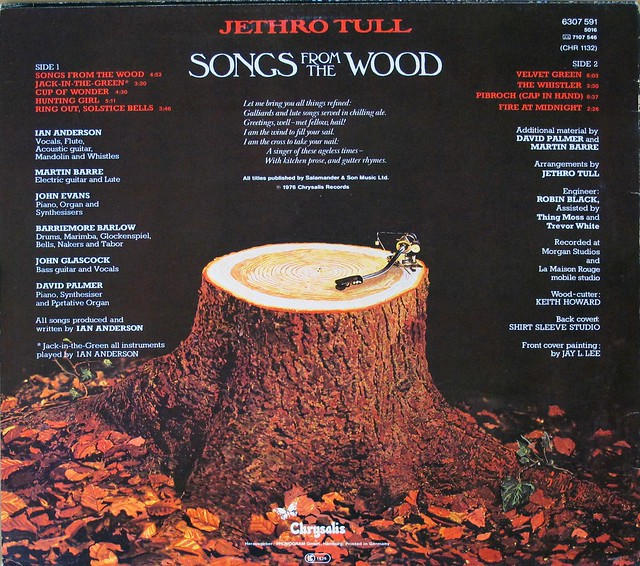 "JETHRO TULL SONGS FROM THE WOOD 12"" LP"
